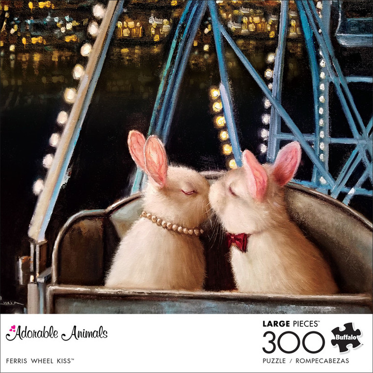 Adorable Animals Ferris Wheel Kiss 300 Large Piece Jigsaw Puzzle Front