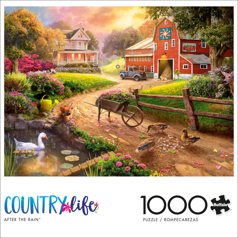 Country Life After the Rain 1000 Piece Jigsaw Puzzle Front