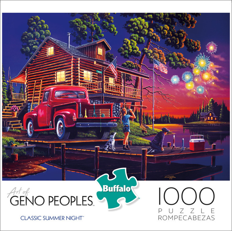 Geno Peoples Classic Summer Night 1000 Piece Jigsaw Puzzle Front