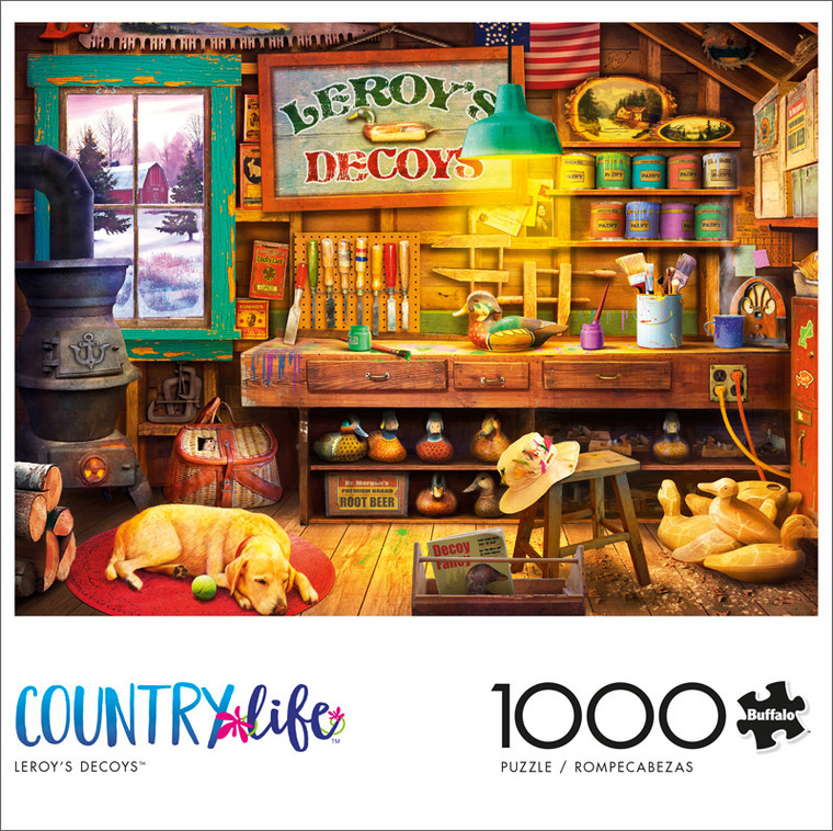Country Life Leroy's Decoys 1000 Piece Jigsaw Puzzle Front
