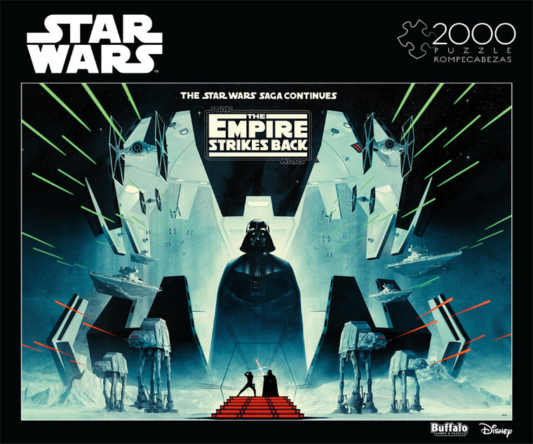 Star Wars™ The Saga Continues 2000 Piece Jigsaw Puzzle Front