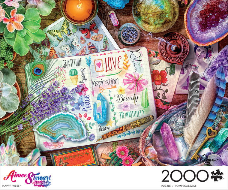 Aimee Stewart Happy Vibes 2000 Piece Jigsaw Puzzle Front