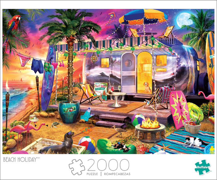 Art of Play Beach Holiday 2000 Piece Jigsaw Puzzle Front