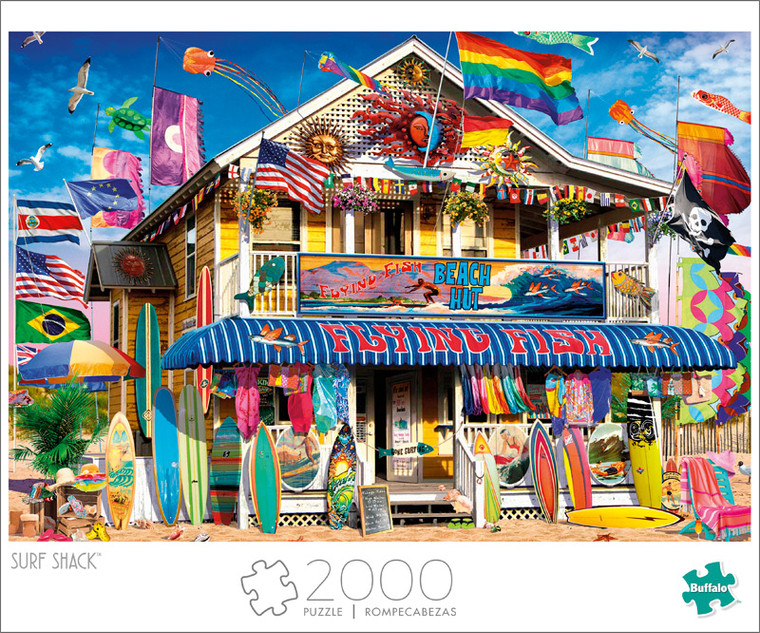 Art of Play Surf Shack 2000 Piece Jigsaw Puzzle Front