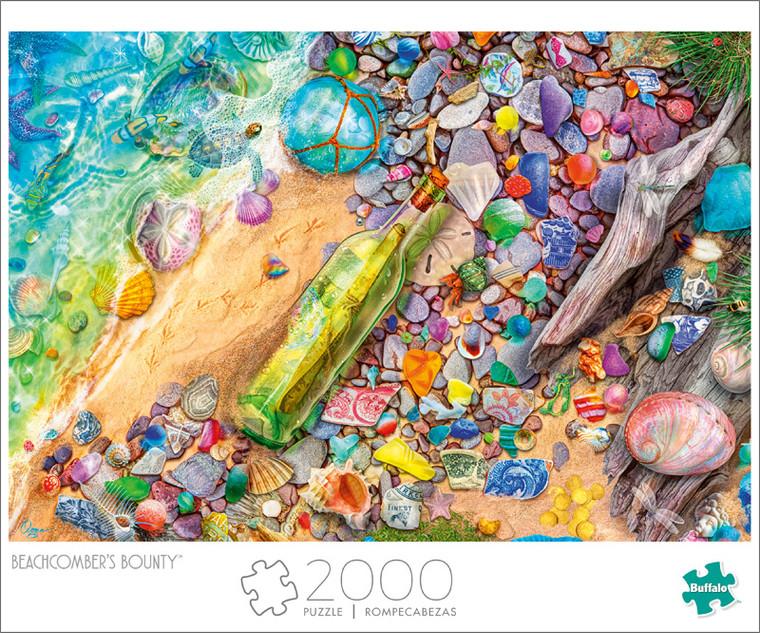 Art of Play Aimee Stewart Beachcomber's Bounty  2000 Piece Jigsaw Puzzle Front