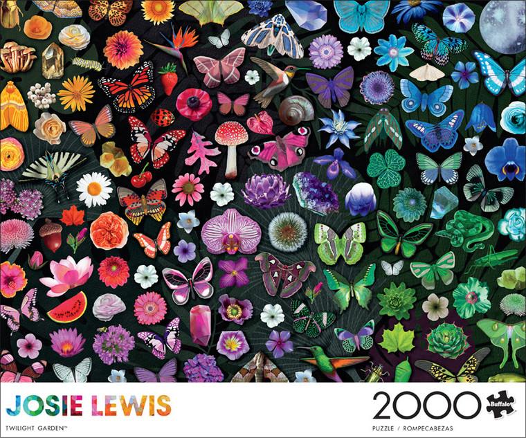 Art of Play Josie Lewis Twilight Garden 2000 Piece Jigsaw Puzzle Front