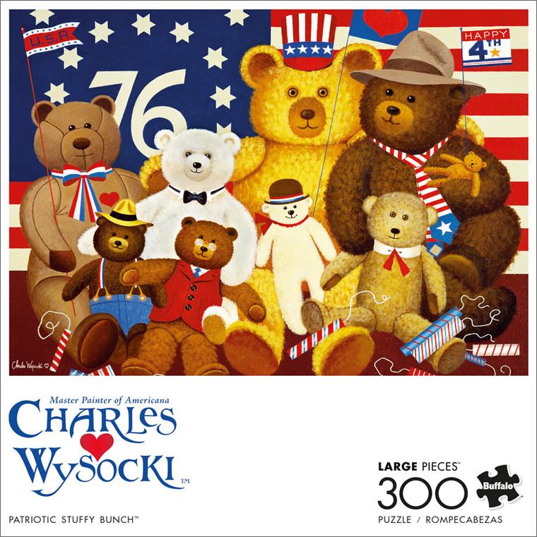 Charles Wysocki Patriotic Stuffy Bunch 300 Large Piece Jigsaw Puzzle Front