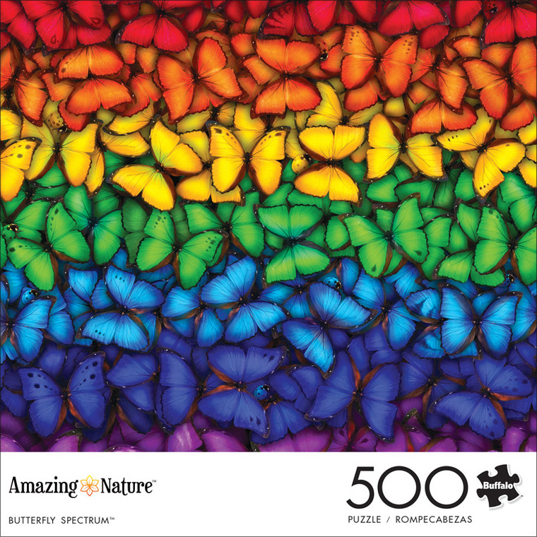 Amazing Nature Butterfly Spectrum 500 Piece Jigsaw Puzzle Front