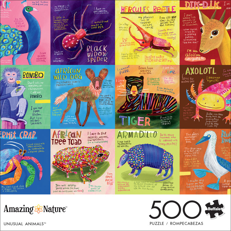Amazing Nature Unusual Animals 500 Piece Jigsaw Puzzle Front