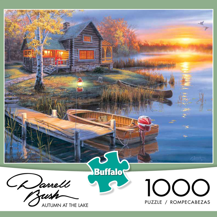 Darrell Bush Autumn at the Lake 1000 Piece Jigsaw Puzzle Front