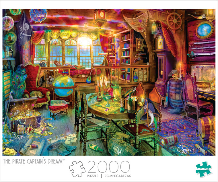 Art of Play Aimee Stewart The Pirate Captain's Dream 2000 Piece Jigsaw Puzzle Front