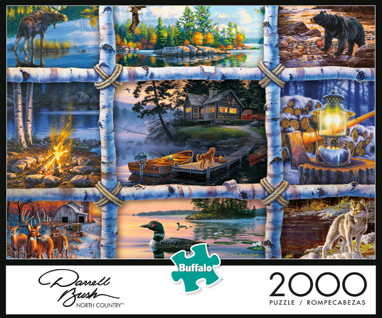Darrell Bush North Country 2000 Piece Jigsaw Puzzle Front
