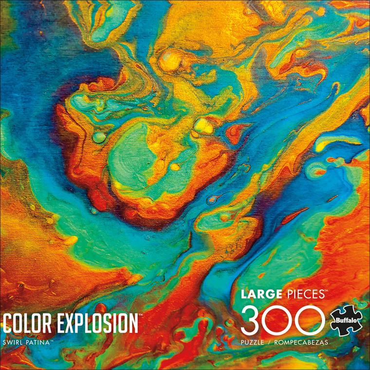 Color Explosion Swirl Patina 300 Large Piece Jigsaw Puzzle Front