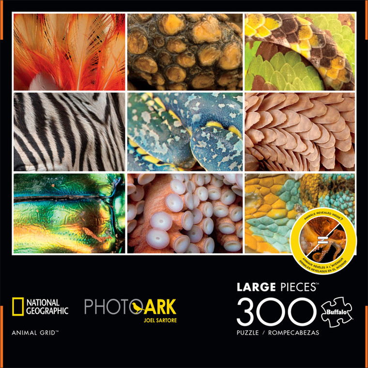 National Geographic Photo Ark Animal Grid 300 Large Piece Jigsaw Puzzle Front