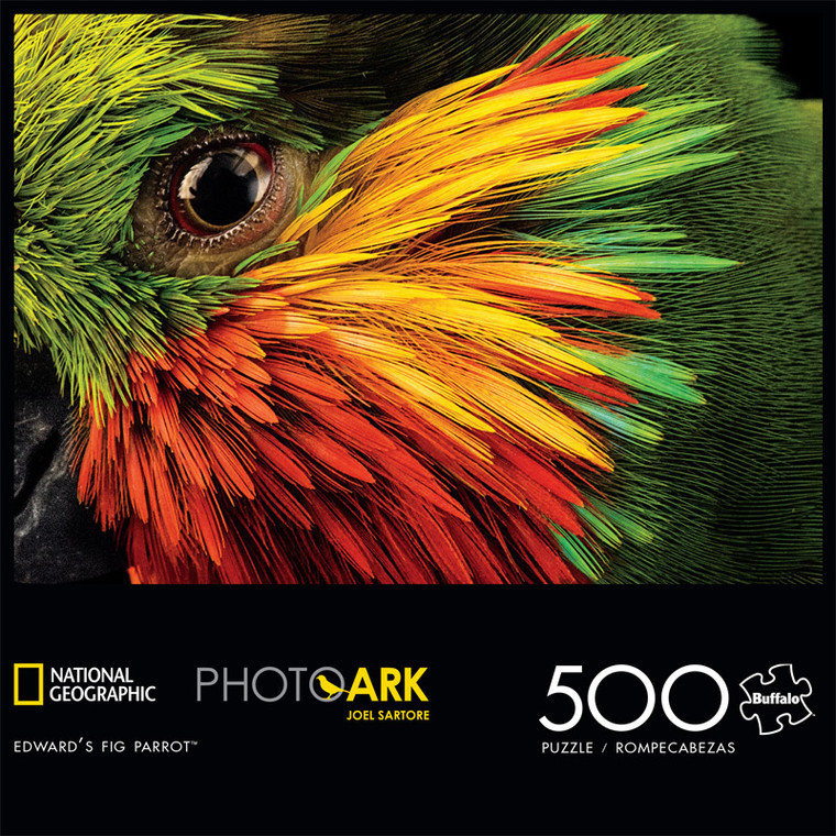 National Geographic's Photo Ark Edward's Fig Parrot 500 Piece Jigsaw Puzzle Front