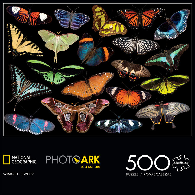 National Geographic's Photo Ark Winged Jewels 500 Piece Jigsaw Puzzle Front