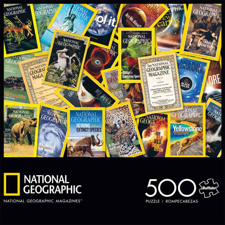 National Geographic Magazines 500 Piece Jigsaw Puzzle Front