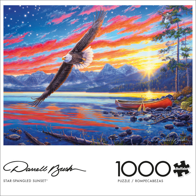 Darrell Bush Star-Spangled Sunset 1000 Piece Jigsaw Puzzle Front
