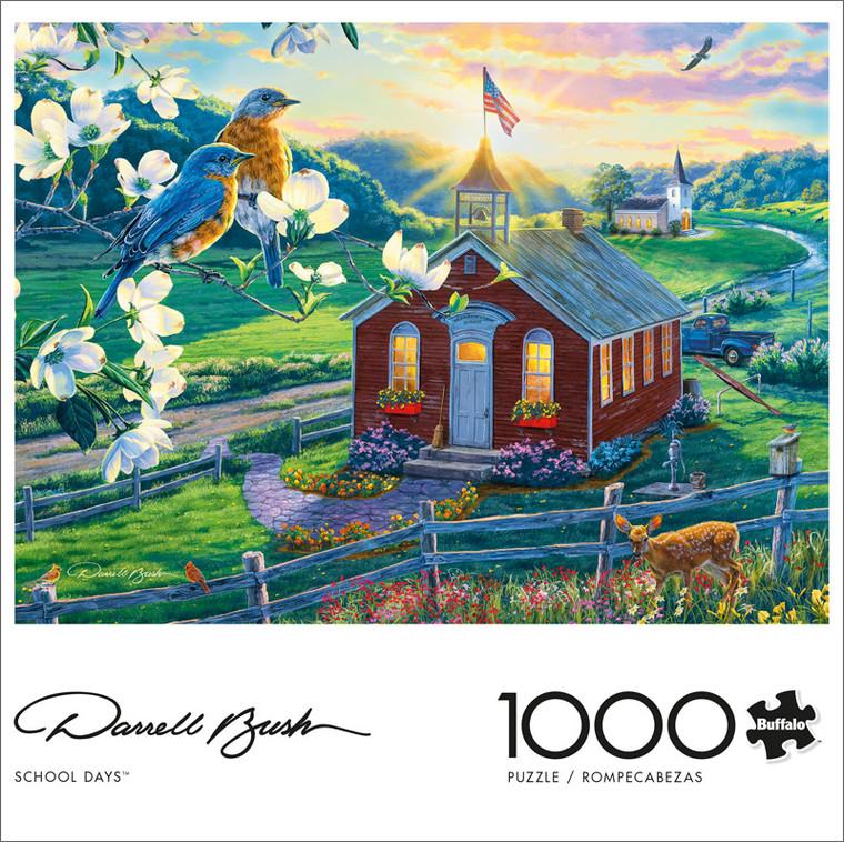 Darrell Bush School Days 1000 Piece Jigsaw Puzzle Front