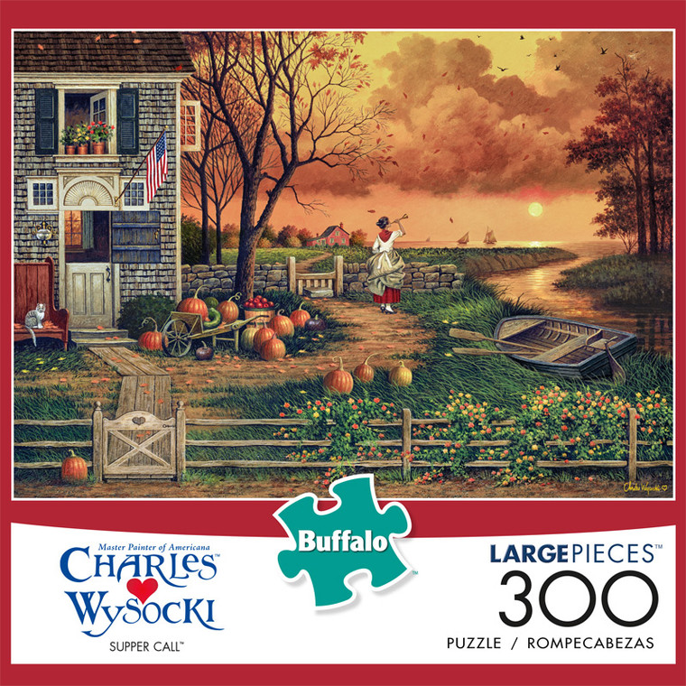 Charles Wysocki Supper Call 300 Large Piece Jigsaw Puzzle Front