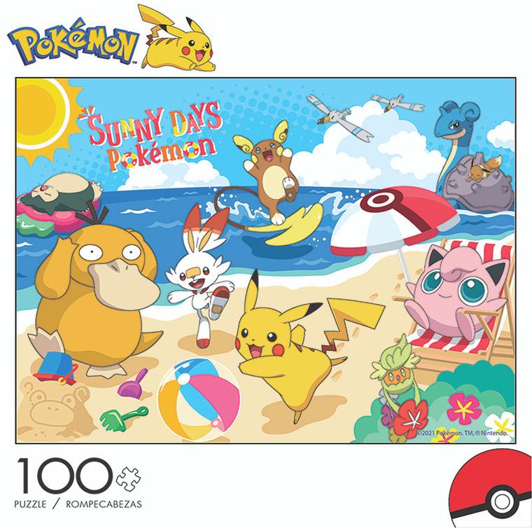Pokémon Sunny Days 100 Piece Jigsaw Puzzle Front
