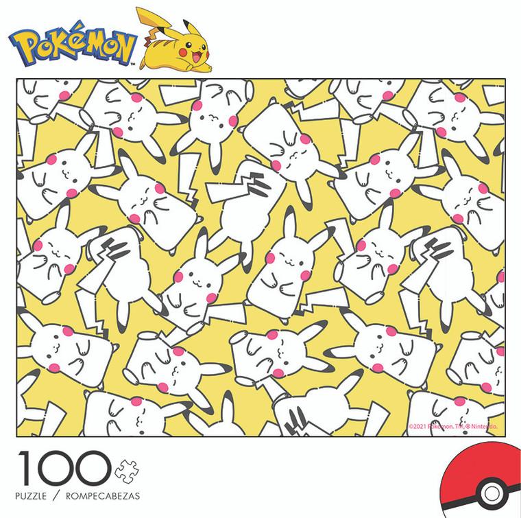 Pokémon Pikachu Pattern 100 Piece Jigsaw Puzzle Front
