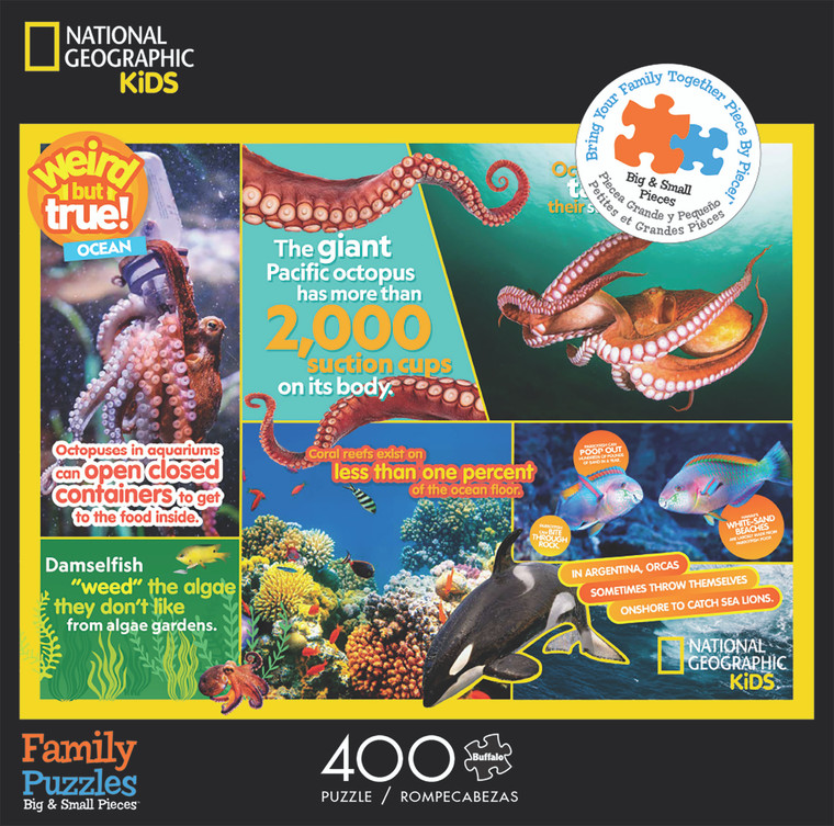 National Geographic Kids Weird But True Ocean 400 Piece Family Jigsaw Puzzle Front