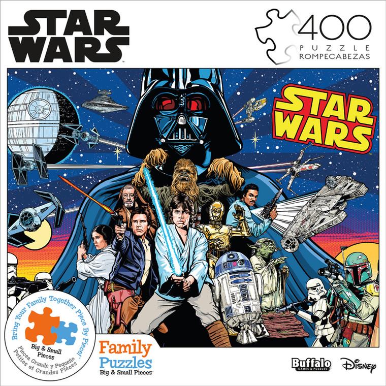 Star Wars™ Comic Pinball Art 400 Piece Family Jigsaw Puzzle Front