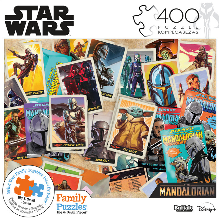 Star Wars™ The Mandalorian Trading Card Expansion Pack 400 Piece Family Jigsaw Puzzle Front