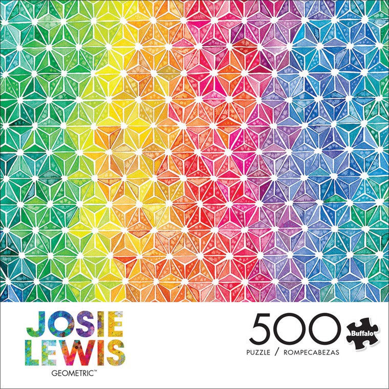 Josie Lewis Geometric 500 Piece Jigsaw Puzzle Front