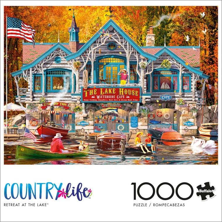 Country Life Retreat at the Lake 1000 Piece Jigsaw Puzzle Front