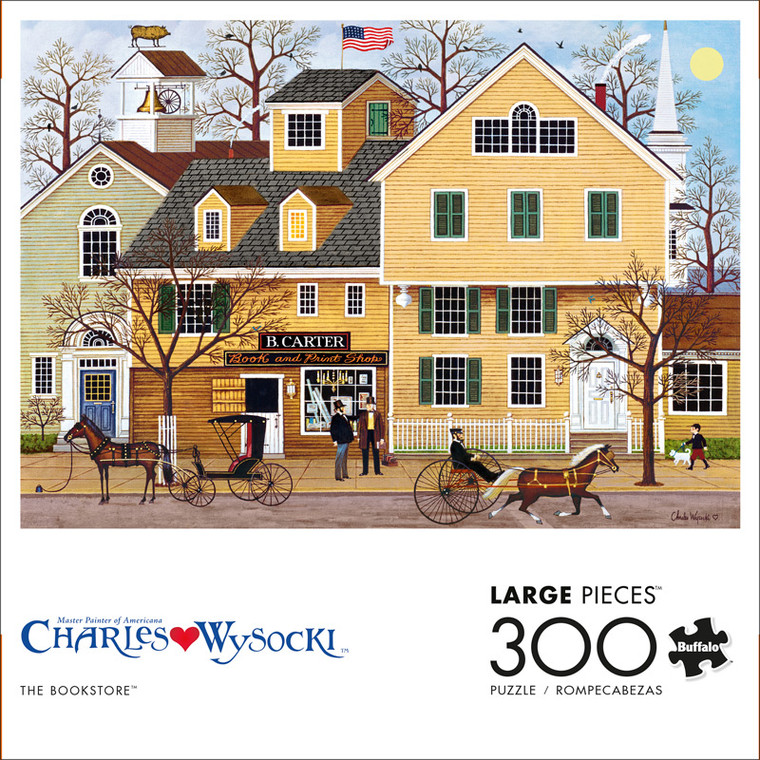 Charles Wysocki The Bookstore 300 Large Piece Jigsaw Puzzle Front