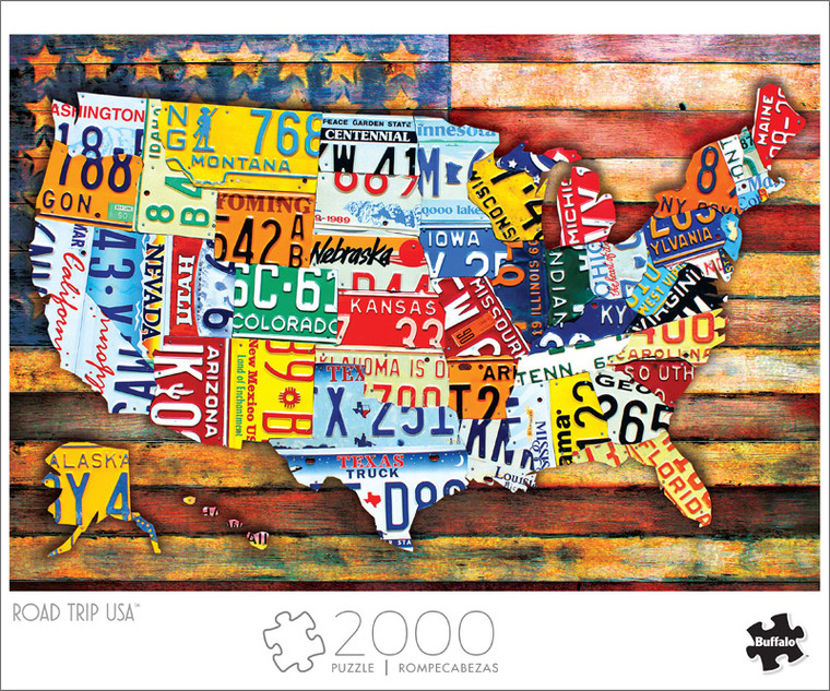 Art of Play Road Trip USA 2000 Piece Jigsaw Puzzle Front
