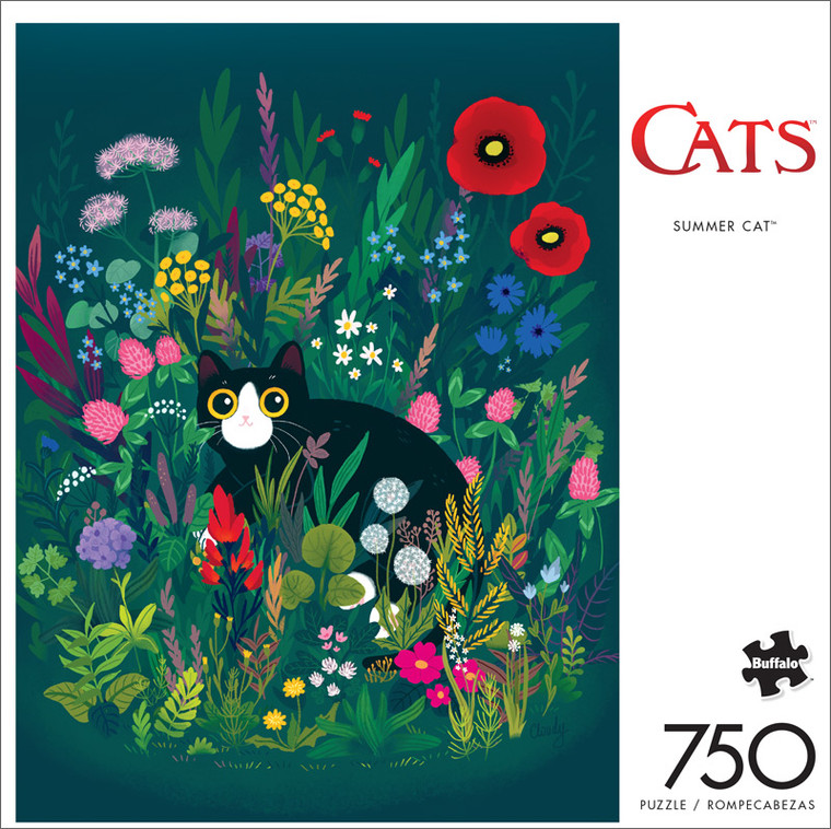 Cats Summer Cat 750 Piece Jigsaw Puzzle Front