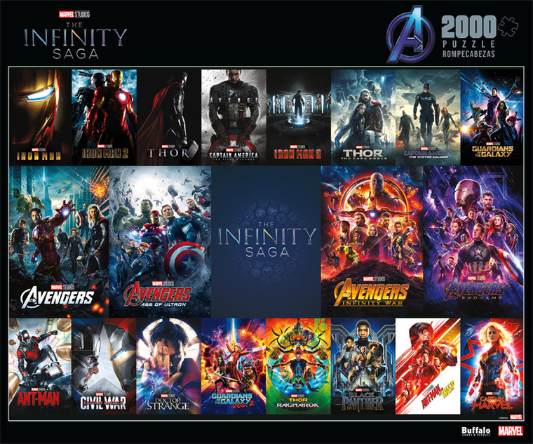 Marvel Infinity Saga Posters 2000 Piece Jigsaw Puzzle Front