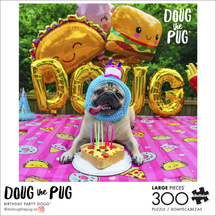 Art of Play Birthday Party Doug 300 Large Piece Jigsaw Puzzle Front
