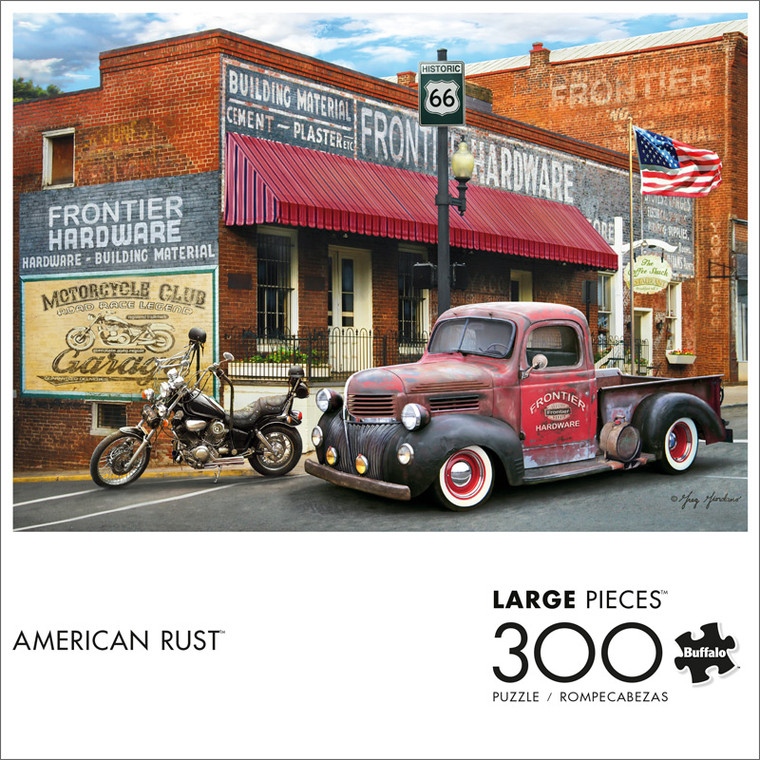 American Rust 300 Large Piece Jigsaw Puzzle Front