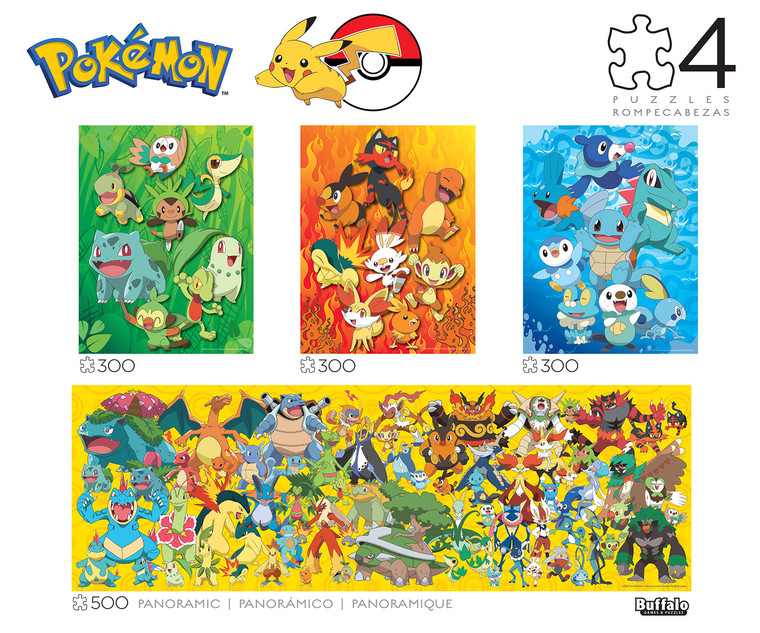 Pokémon 4-in-1 Jigsaw Puzzle Multipack Front