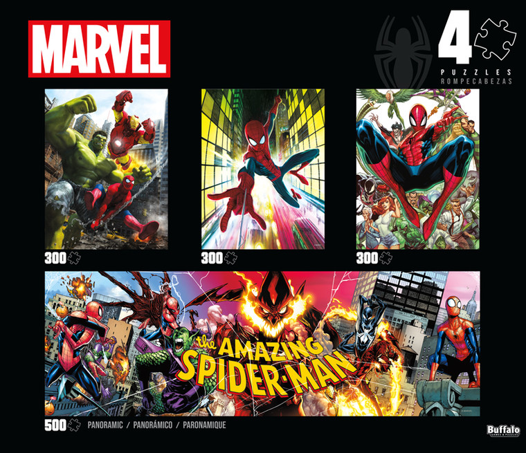 4-in-1 Marvel Spider-Man Multipack Jigsaw Puzzle Front