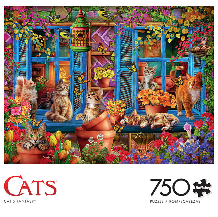 Cats Fantasy 750 Piece Jigsaw Puzzle Front