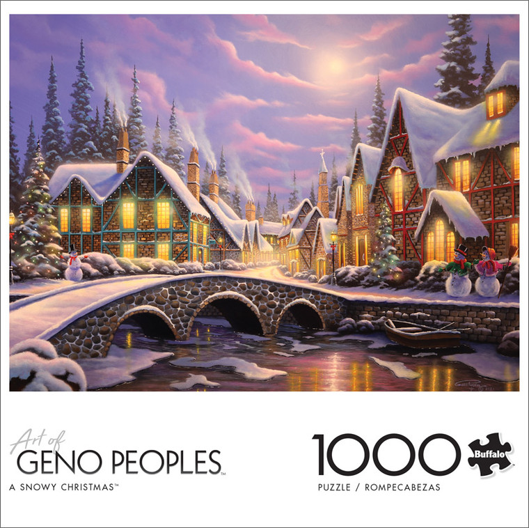 Geno Peoples A Snowy Christmas 1000 Piece Jigsaw Puzzle Front