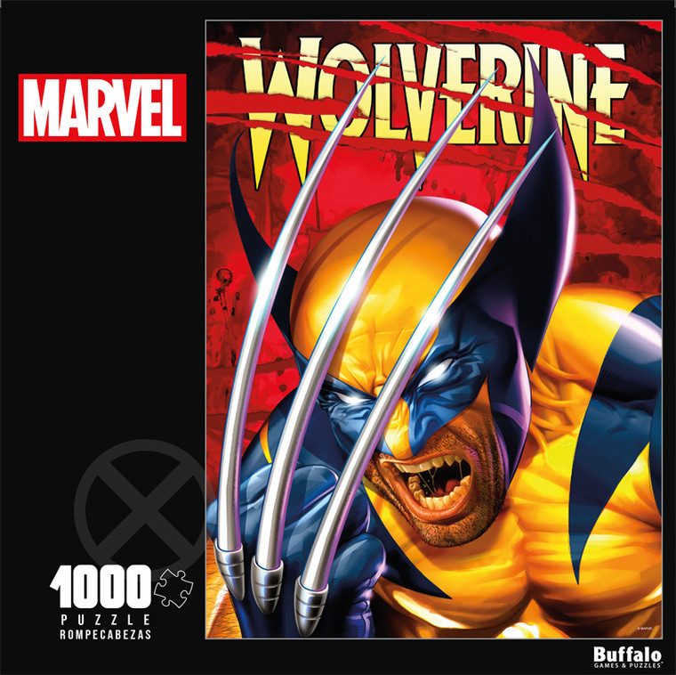 Marvel Wolverine 1000 Piece Jigsaw Puzzle Front