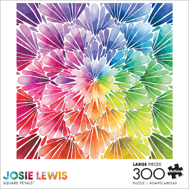 Art of Play Josie Lewis Square Petals 300 Large Piece Jigsaw Puzzle Front