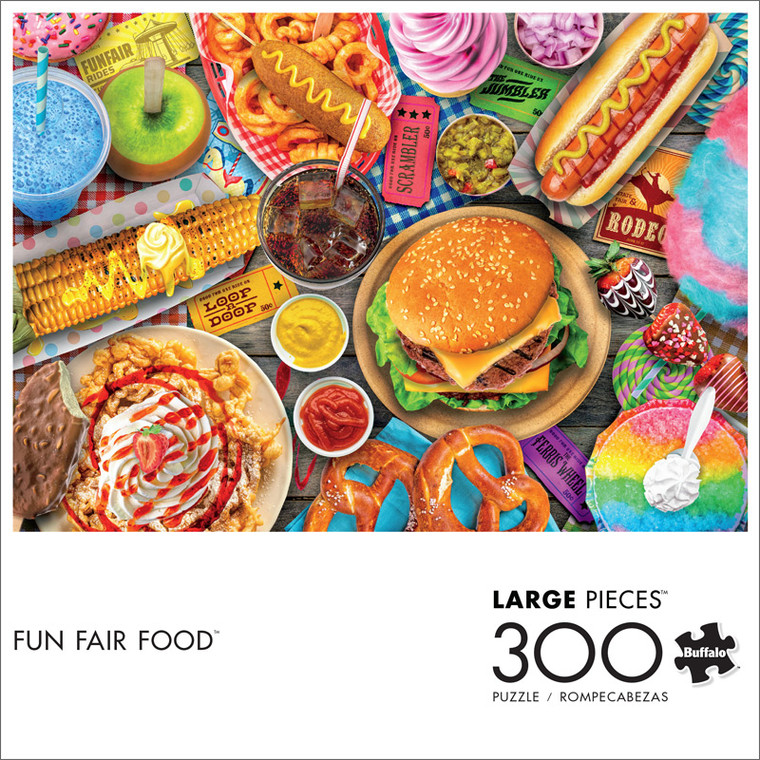 Fun Fair Food 300 Large Piece Jigsaw Puzzle Front