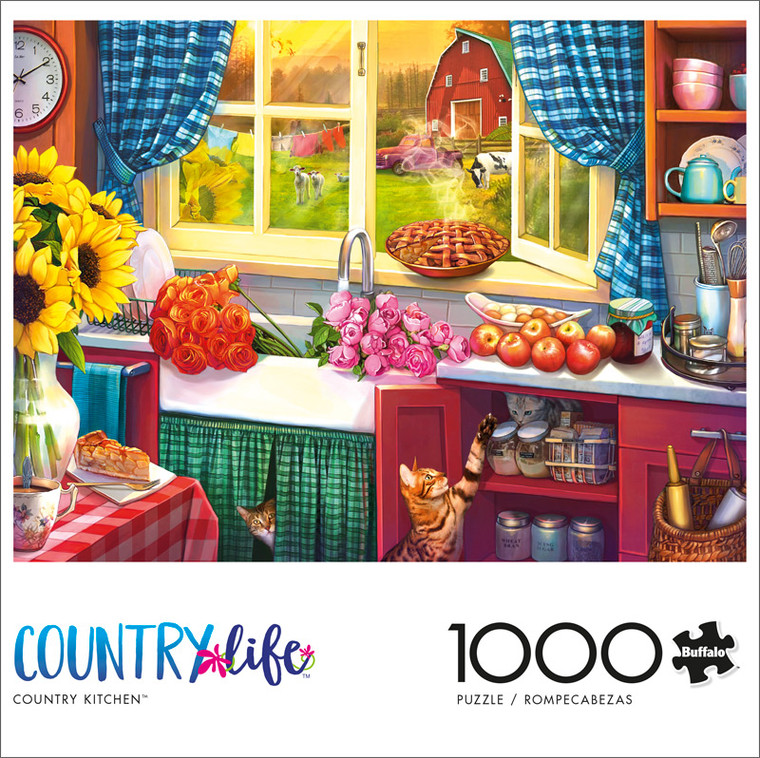Country Life Country Kitchen 1000 Piece Jigsaw Puzzle Front