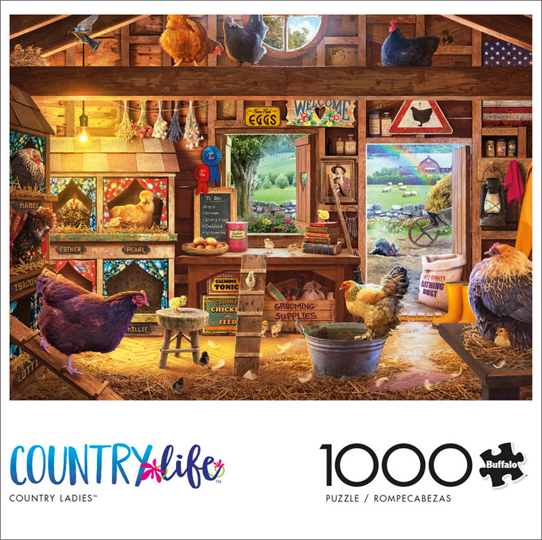 Country Life Country Ladies 1000 Piece Jigsaw Puzzle Front
