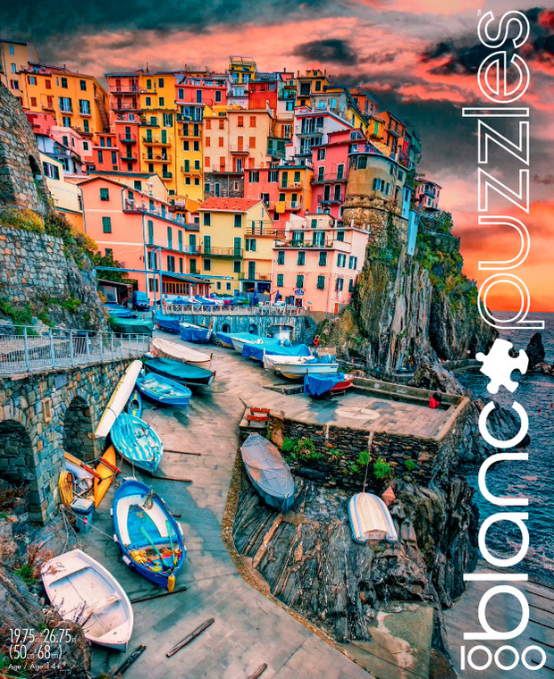 blanc Cinque Terre Skies 1000 Piece Jigsaw Puzzle Front