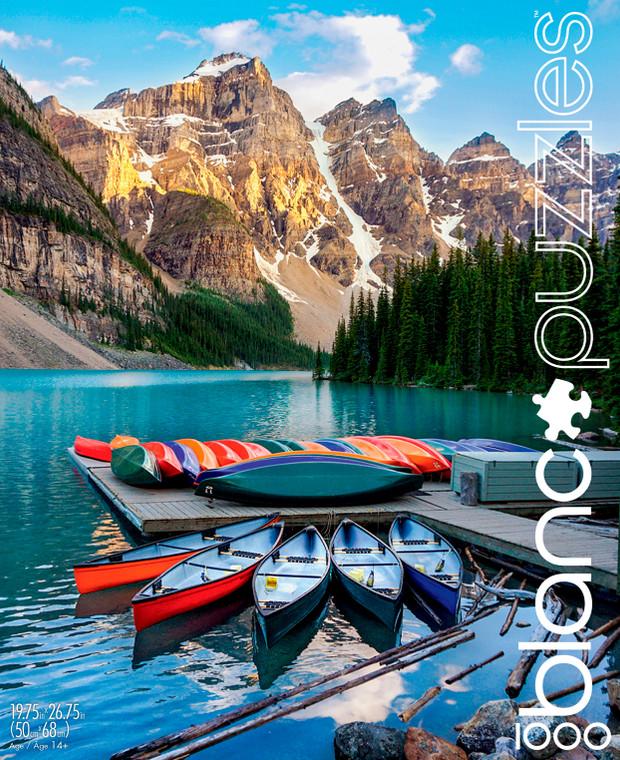 blanc Lake Moraine 1000 Piece Jigsaw Puzzle Front