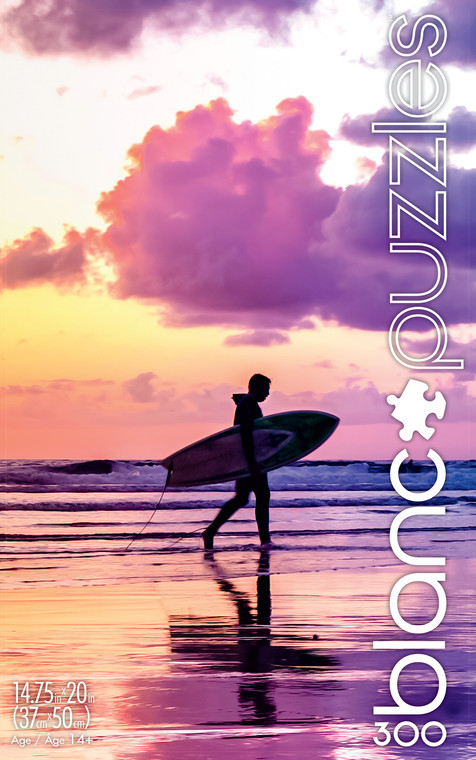 blanc Sunset Surfer California 300 Piece Jigsaw Puzzle Front
