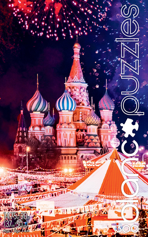 blanc Moscow Fireworks 300 Piece Jigsaw Puzzle Front
